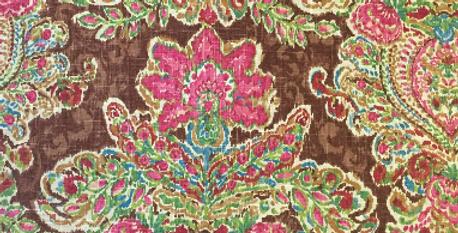 Brown - Pink - Green Floral