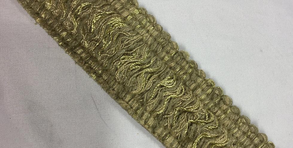 Golden Oatmeal Brush Fringe