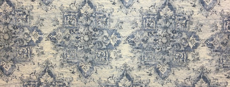 Kameni in Old Blue Eyes - Heavyweight Fabric - Blue Upholstery Fabric - Chenille