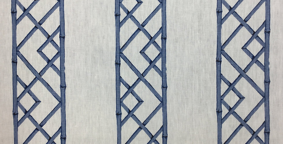 Dark Blue Bamboo Lattice