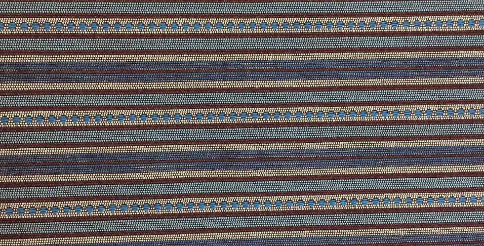 Blue and Maroon Boho Fabric