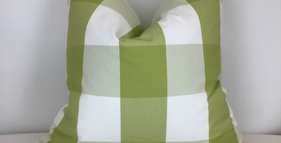 Green Buffalo Check - Accent Pillow