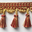 Thumbnail: Red and Gold Tassel Fringe