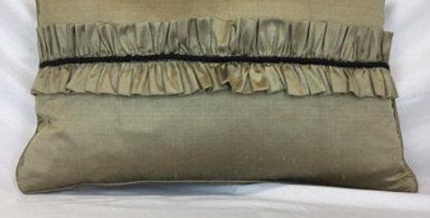 Champaign Silk Pillow - Silk Throw Pillow