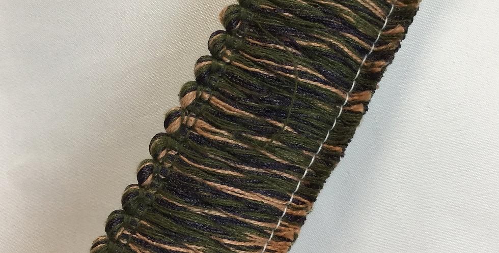 Green, Camel, and Purple Brush Fringe