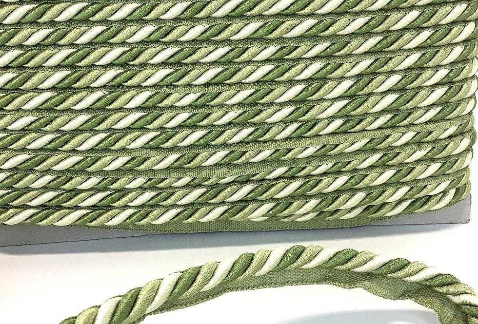 Shades of Green Twist Lip Cord