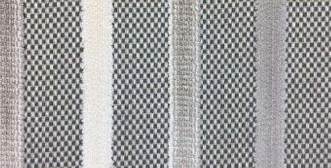 Gray and Cream Velvet Stripe