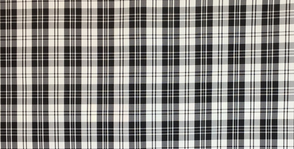 Small Black and White Plaid