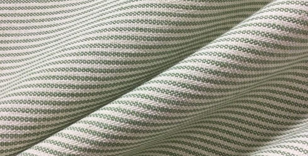 Stella Menthol - Green Chain Stripe - Green Stripe Bedskirt - Green Pillow Shams