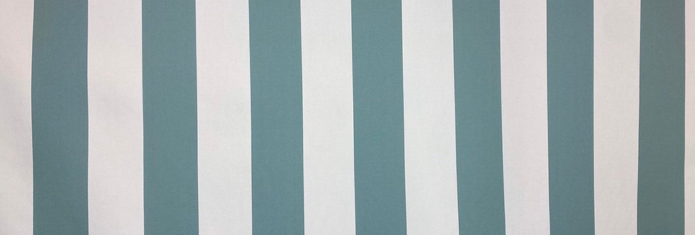 Cabana Stripe - Blue Spa- Outdoor Fabric - Patio Upholstery - Poolside Pillows