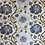 Thumbnail: Vining Floral - Embroidered - Navy - White