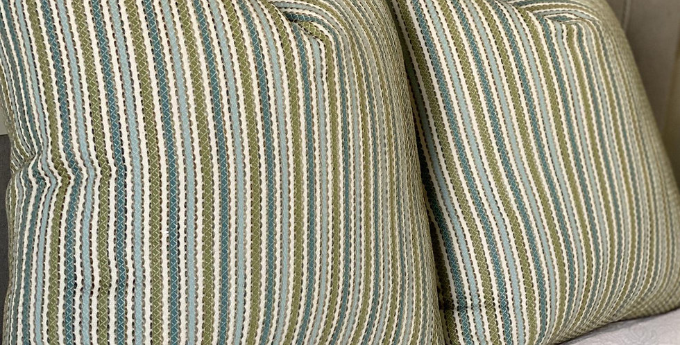 Boho Stripe Pillow Cover - Throw Pillow  - Unique Texture - Decorative Pillow co