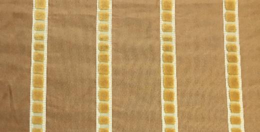 Yellow - Velvety Stripe