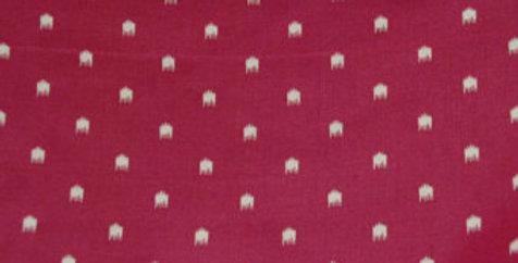 Raspberry Dots Fabric