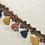 Thumbnail: Blue - Gold - Pink Tassel Fringe