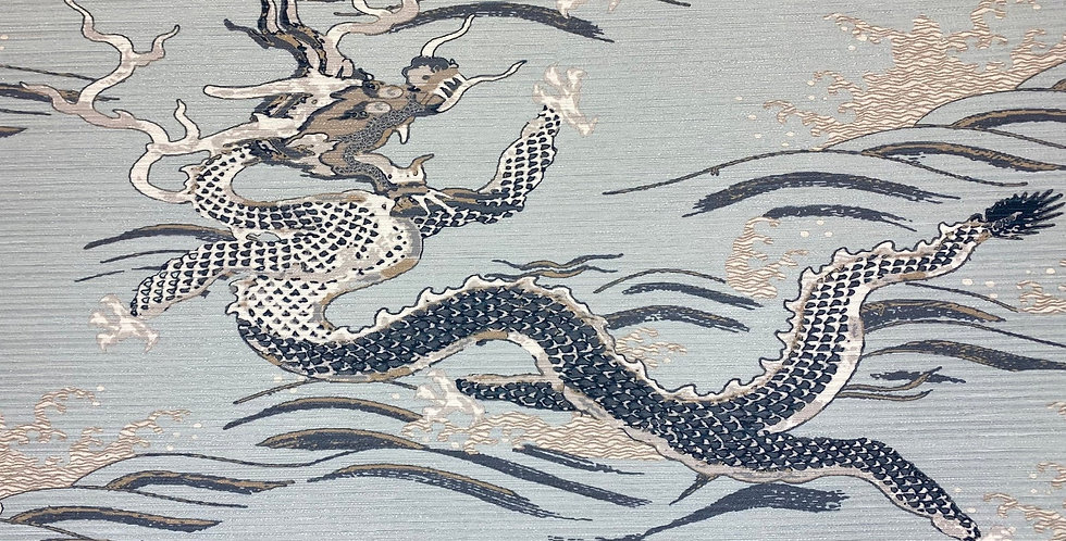 Fergy - Mineral - Dragon - Asian Inspired - Powder Blue - Navy