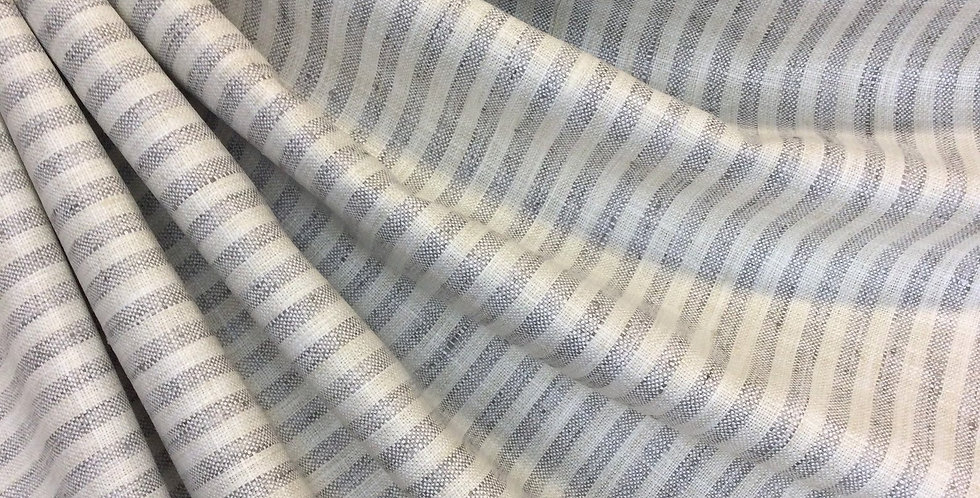 Gray and Cream Stripe - Swift - Moonstone - Stripe Upholstery Fabric - Home Deco