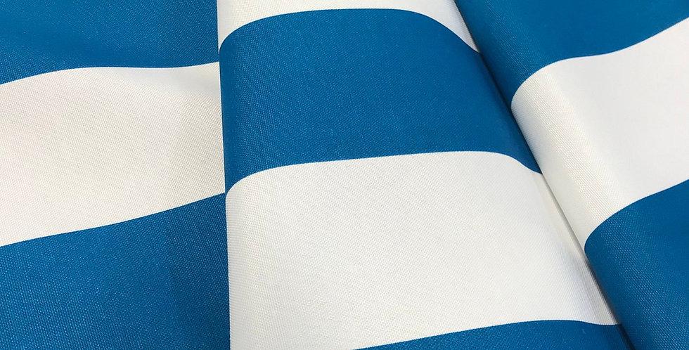 Turquoise Cabana Wide Stripe