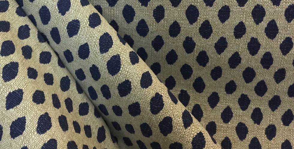 Lacefield Designs - Sahara Midnight - Navy Dot Upholstery Fabric - Custom Pillow