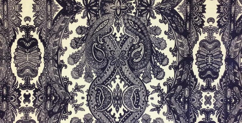 Velvet Indigo - Videl Navy - Soft Navy Velvet Upholstery Fabric - Navy and White