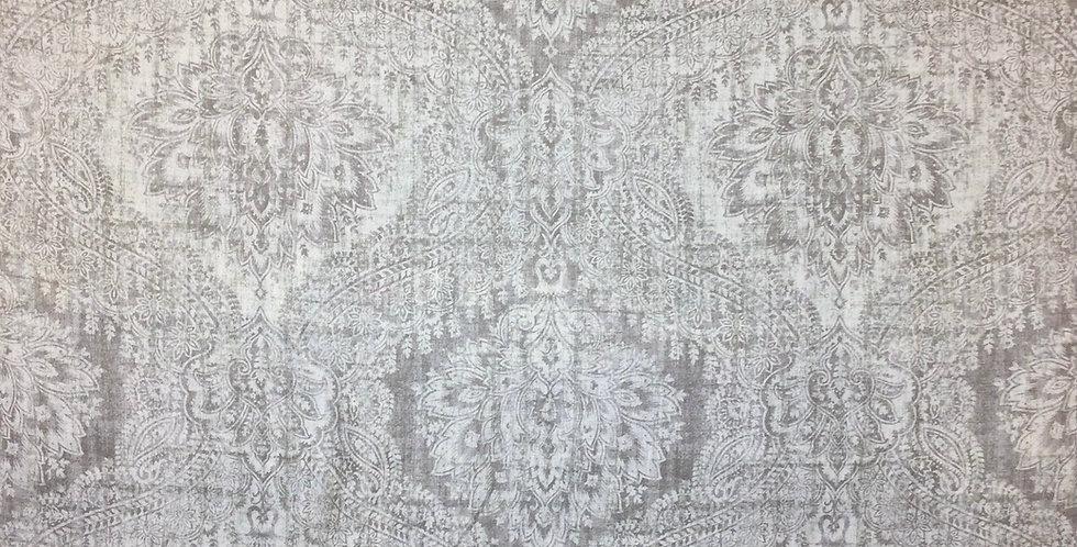 Piper Dove - Off White Damask - Gray Damask Fabric - Geometric Fabric