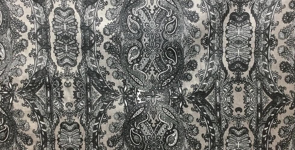 Bohemia gray - andrew Martin - Kravet - black gray white - damask