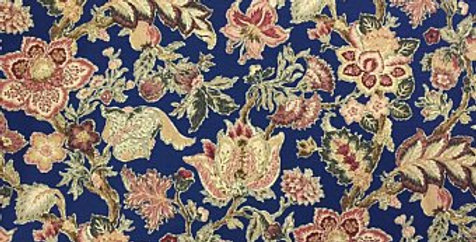 Royal Navy Blue Floral