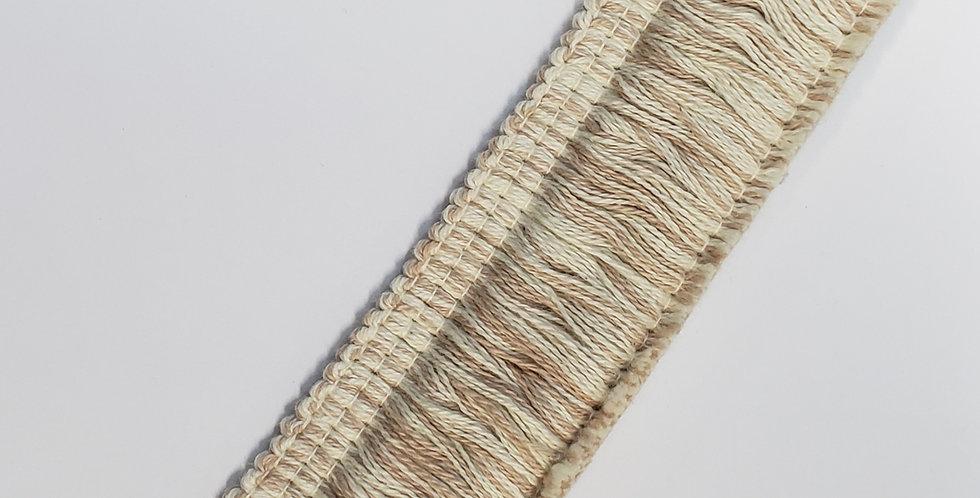 Cream and Tan 1 1/2 inch Brush Fringe - Cotton Brush Fringe