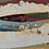 Thumbnail: Painted Waves - Burgundy, blue, yellow