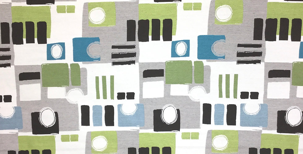 Abstract Geometric - Green - Blue