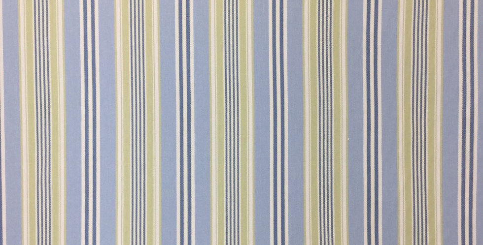 Chartreuse and Light Blue Stripe