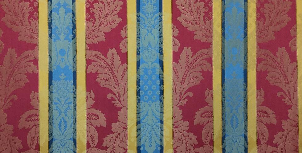 Royal Damask Stripe - Red, Blue, Gold