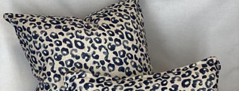 Navy Mancala Pillow Cover