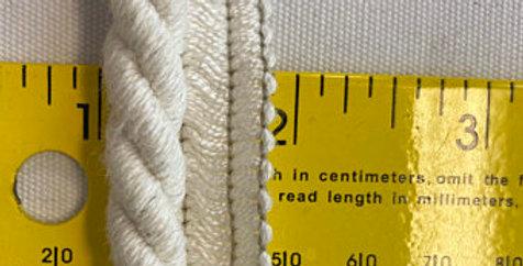 """1/2"""" White Cotton Lip Cord"""