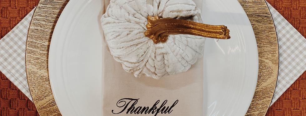 Thankful Grateful Blessed Napkins