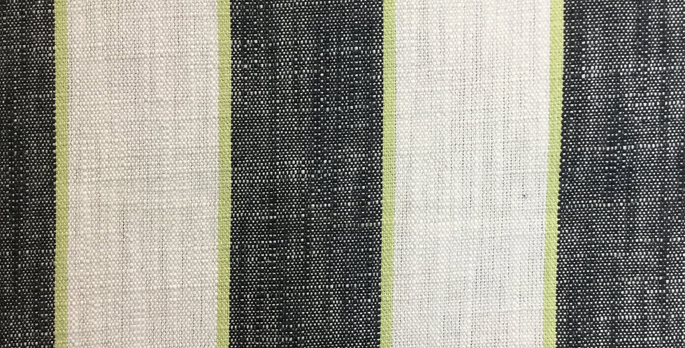 Black White and Chartreuse Green Stripe