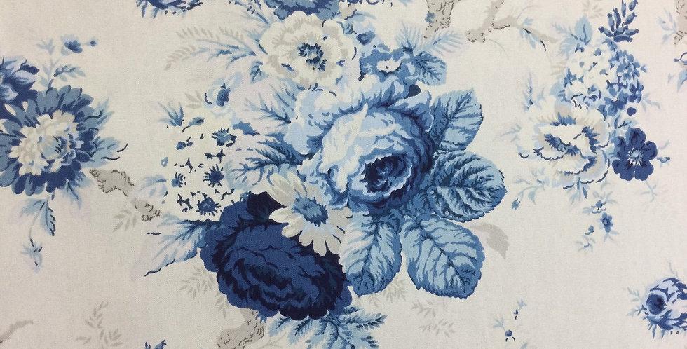Blue Rose - Sanctuary Rose Cornflower - Waverly - Floral Fabric - Floral Pillow