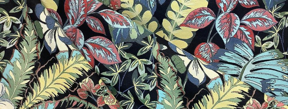 Rainforest Mardi Gras - Multicolor Jungle Plants - Vibrant Color Fabric