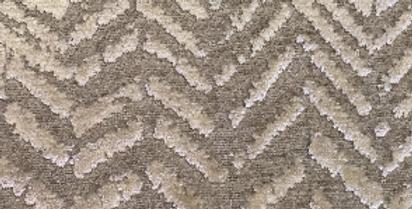 Chenille Chevron - Soft Textured - Gray