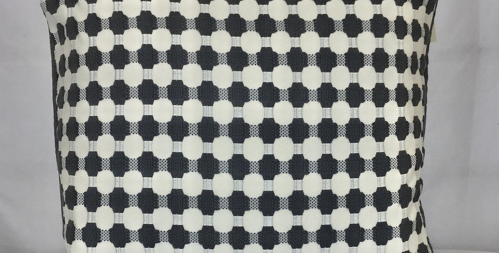 Gray Woven Dot Pillow Cover - Geometric Throw Pillows - Dark Gray Decorative Pil