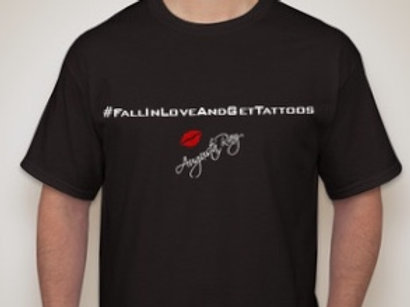 """""""FALL IN LOVE AND GET TATTOOS"""" Unisex Tee"""
