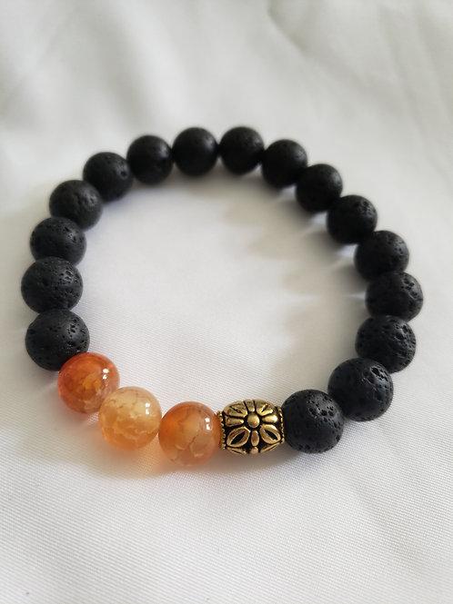 Men's Lava Bead Bracelet