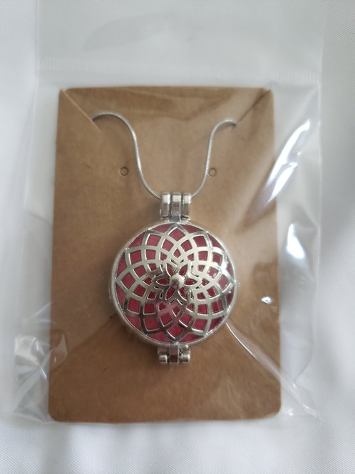 Silver Diffuser Necklace