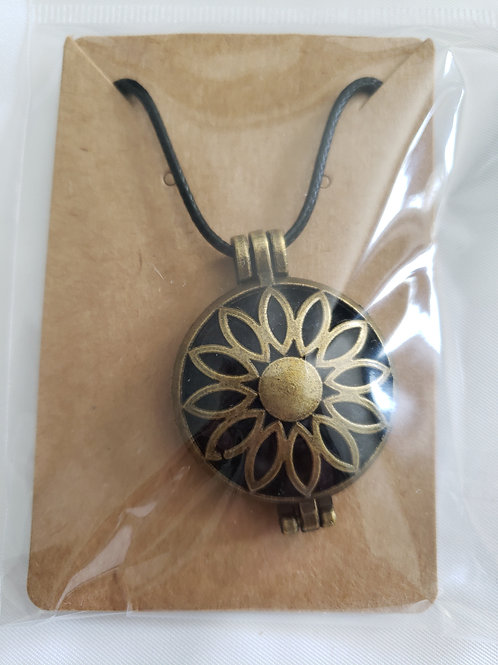 Bronze Diffuser Necklace