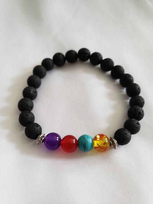 Women's Lava Bead Bracelet