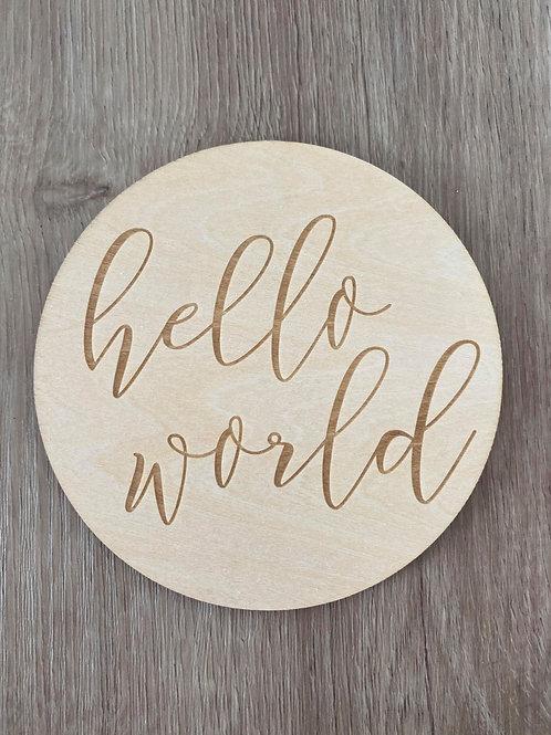 Hello World Sign