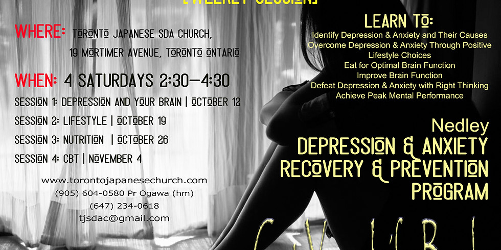 Nedley Depression Prevention & Recovery Seminar - Lifestyle