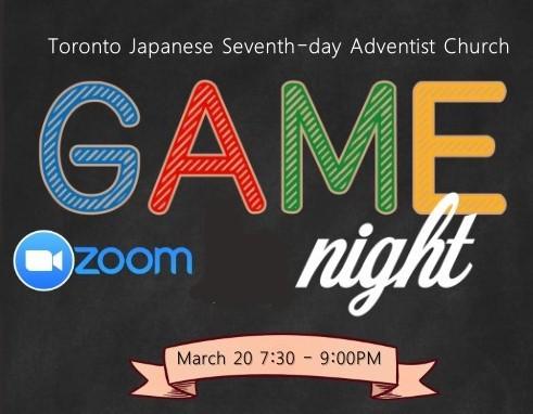 Mar 20 Game Night
