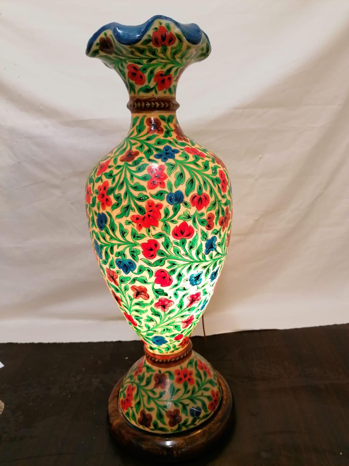 Vaso dipinto a mano, altezza 60cm