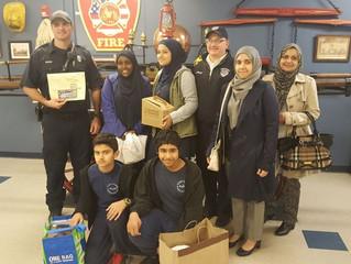 Student Council Visits Shrewsbury Fire Dept!
